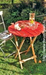 складной столик для сада