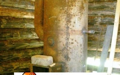 Самодельная металлическая печь из трубы