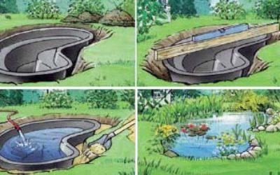 Дизайн мини пруда на даче