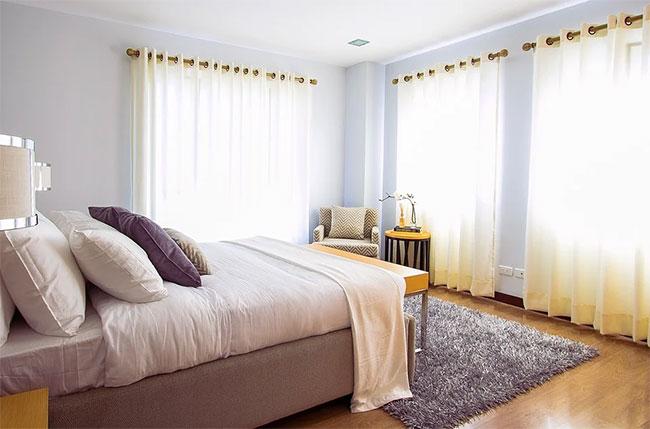 размещение света в спальне