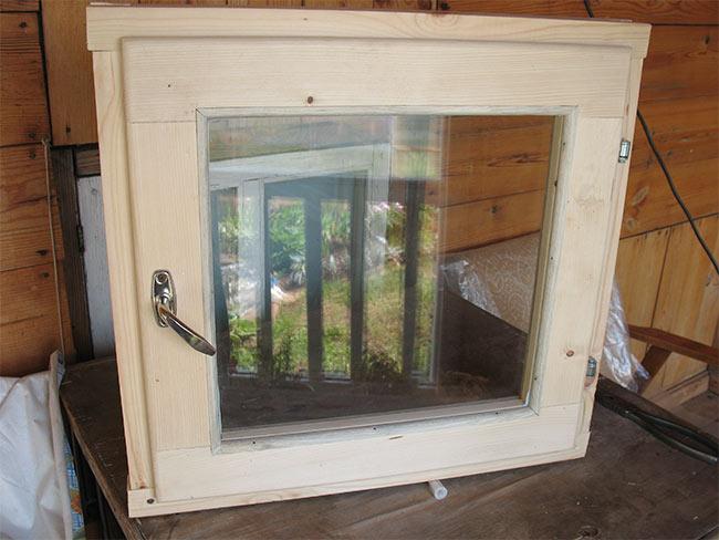 готовое банное окно