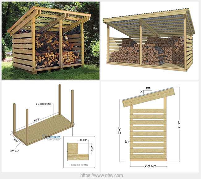 строительство дровницы